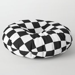 Black & White Checker Checkerboard Checkers Floor Pillow