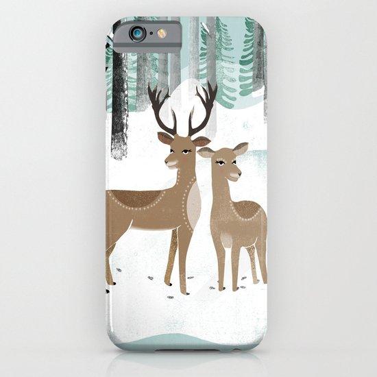 Winter Deer by Andrea Lauren  iPhone & iPod Case