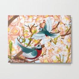 The seasons | Spring birds Metal Print