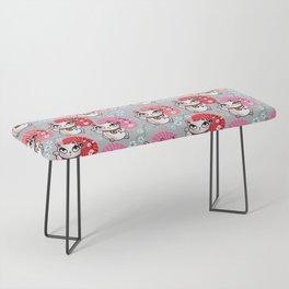 Kyoto Kitty on Grey Bench