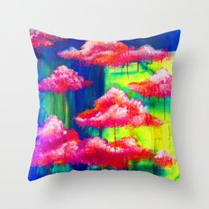 Candy Clouds Throw Pillow