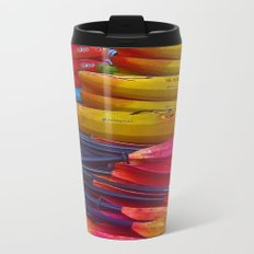 Kayaks and Canoes at the Rowing Club Metal Travel Mug