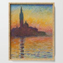 Claude Monet San Giorgio Maggiore at Dusk (Venice) Serving Tray