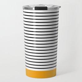 Line Edition Yellow Travel Mug
