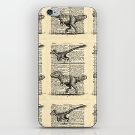 Dictionary Dinosaurs iPhone Skin