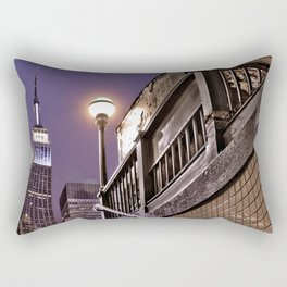 Empire State Subway - New York Photography Rectangular Pillow