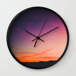 sky on fire Wall Clock