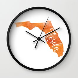Pray for Florida Wall Clock