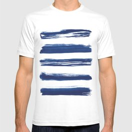 Indigo Brush Strokes   No. 2 T-shirt