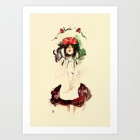 princess mononoke Art Prints featuring Mononoke by chuma hill