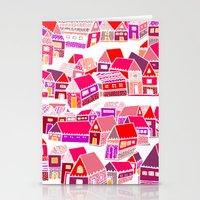 home sweet home Stationery Cards featuring Home Sweet Home by Shakkedbaram