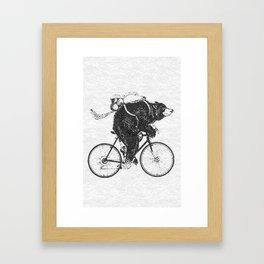 One Bear Framed Art Print