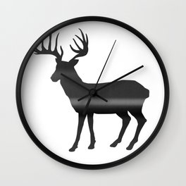 Deer print, Black & White Wall Clock