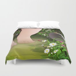 Baby Steps Duvet Cover