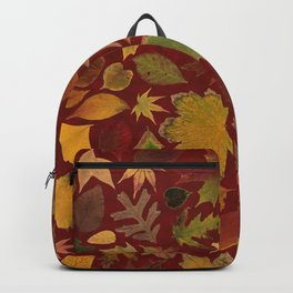 Autumn Leaves Red Backpack