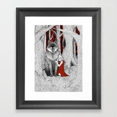 The Wolf & I Framed Art Print