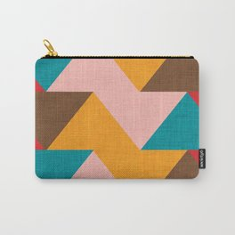 Kilim Chevron pink yellow Carry-All Pouch