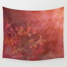 """""""Rose Gold Flowers"""" Wall Tapestry"""