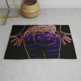 Jazz Hands (colourful) Rug