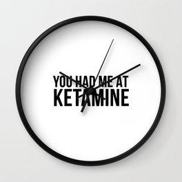 Ketamine psychodelic drug gift Wall Clock