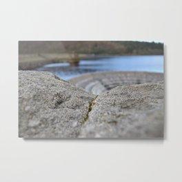 Rock By The Reservoir. Metal Print