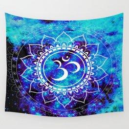 Om Mandala : Bright Violet & Teal Wall Tapestry