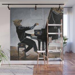 Hyena Piano Music Player Fantasy Art Wall Mural