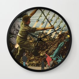 Marriage of Nationalist Security & Capitalist Democracy Wall Clock