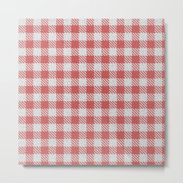 Indian Red Buffalo Plaid Metal Print