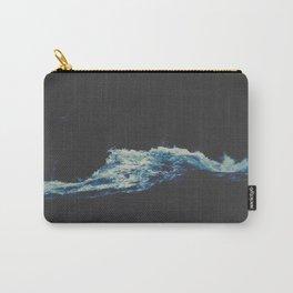 Dark Blue Water Waves MInimalist Photo Ocean Carry-All Pouch
