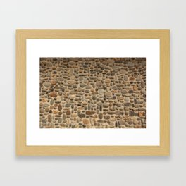 Mosaic Pebble Wall Framed Art Print