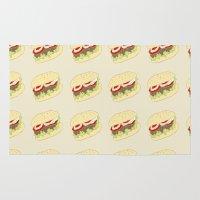 hamburger Area & Throw Rugs featuring Hamburger by Berta Merlotte
