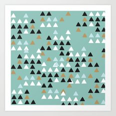 Scandinavian geometric triangle Art Print