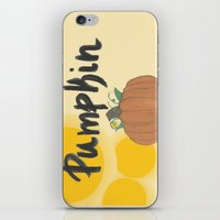 pumpkin iPhone & iPod Skins featuring pumpkin by gasponce