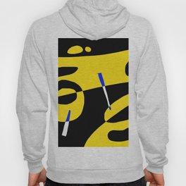 black and yellow Hoody