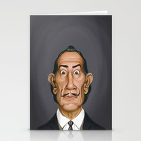 celebrity Stationery Cards featuring Celebrity Sunday ~ Salvador Dali by rob art | illustration