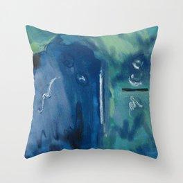 Murky Depths Throw Pillow