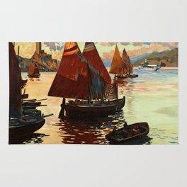 Lake Garda - Vintage Poster Rug