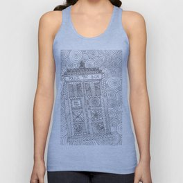Doctor Police Box Unisex Tank Top