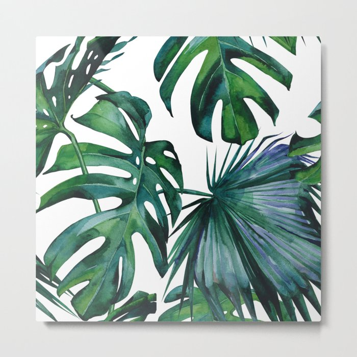 Tropical Palm Leaves Classic Metal Print