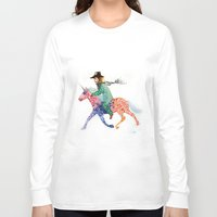cowboy Long Sleeve T-shirts featuring Cowboy by Ksenia Sapunkova