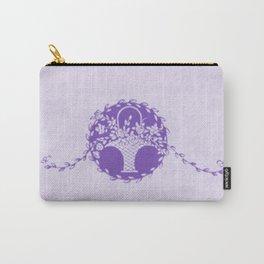 Vintage Floral Purple Carry-All Pouch