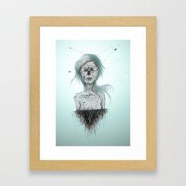 PENSÉE DES MORTS. Framed Art Print