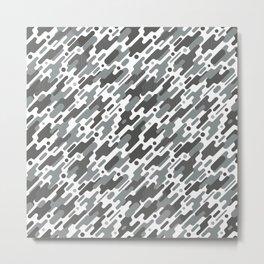 Modern Camouflge Grey Army Pattern Metal Print