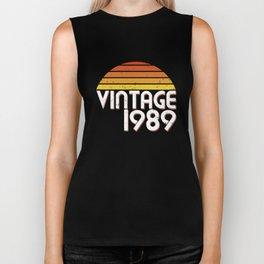 30th Birthday 30 Years Vintage Since 1989 Gift Biker Tank