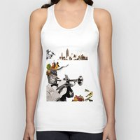 jazz Tank Tops featuring Jazz  by Design4u Studio