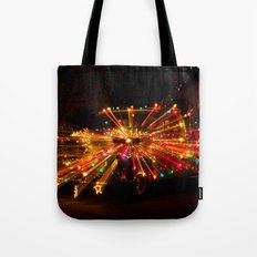 Candy Cane Lane Chevy Truck Tote Bag