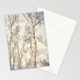 Winter Birch Trees Stationery Cards