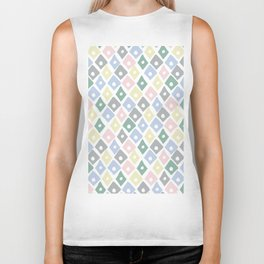 Retro Contemporary Argyle Pattern Biker Tank