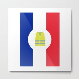 Paris Yellow Vest French revolution #society6 #decor #buyart #artprint Metal Print